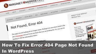 How To Fix Error 404 Page Not Found In WordPress