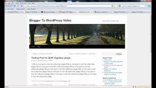 Blogger To WordPress Migration User Guide Video